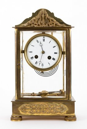 Clock, French Mantle Crystal Regulator