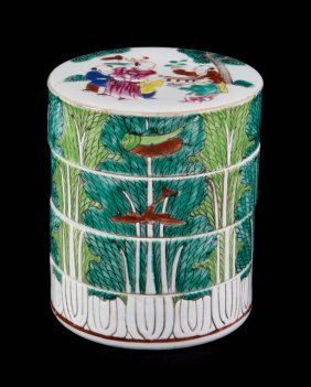 Chinese Export Porcelain Stacking Box