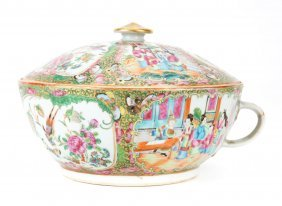Chinese Export Rose Medallion Chamber Pot