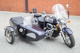 2001 Honda Shadow Motorcycle With Sidecar