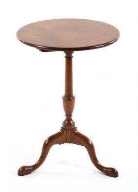 American Queen Anne Cherry Tilt-top Candlestand
