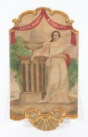T.r. Jefferys. Painted Partial Advertising Banner