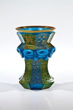 A Rare Agate Stone Glass Beaker South Bohemia, Buqu