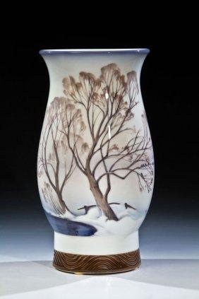 Vase Mit Winterlandschaft