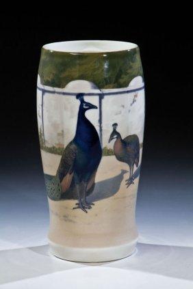 Vase Mit Pfauen