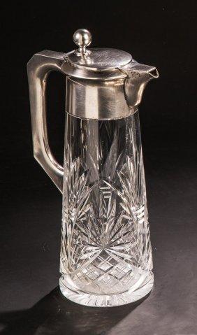 Glaskaraffe Mit Silbermontierung