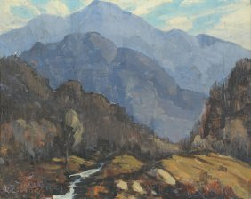 Louis Jones, Mountain Landscape Painting