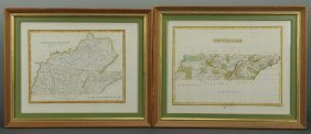 Two 19th C. Maps, Tennessee & Kentucky