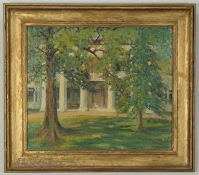 Mayna Treanor Avent Oil On Board, The Hermitage