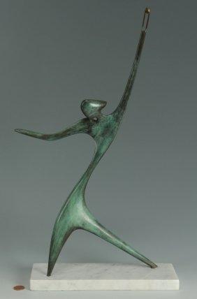 Victor Halvani Abstract Bronze Sculpture, David Wit