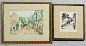 2 Maurice Utrillo Colored Lithographs