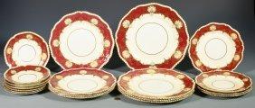 Assorted Pcs Red Hatfield Porcelain Dinnerware
