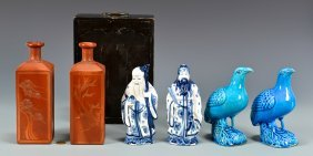 6 Chinese Porcelain Items, Incl. Figurals