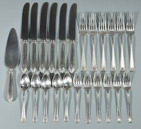 24 Pcs Towle Sterling Flatware, Virginia Carvel Pattern