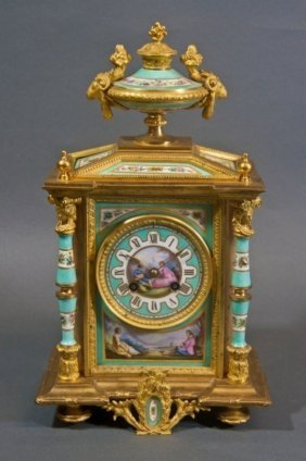 19th Century Ormolu Mounted Sevres Clock