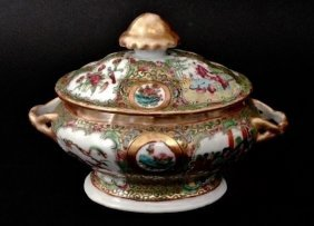 Chinese Rose Canton Serving Dish