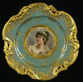 19th Century Royal Vienna Plate Signed Wagner