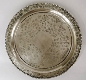 Chinese Sterling Silver Tray