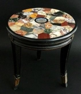 Italian 19th Century Micromosaic Specimen Table
