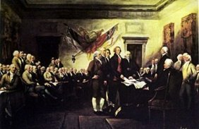 Lithograph - Declaration Of Independence - John