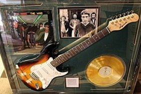 Autographed The Who Guitar With Gold Record And Album