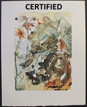 """""""the Apparition Of St James"""" Authentic Salvador Dali"""