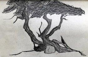 Original Pencil Drawing - Signed A. Kerelrey