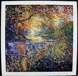 """Lithograph """"color Creek"""" After Michael Schofield"""