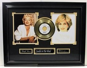 Candle In The Wind - Gold Plated Record - Memorabilia