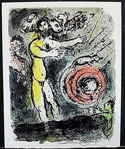 Pencil Signed Lithograph After Marc Chagall