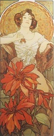 Lithograph Les Rubis - Alphonse Mucha