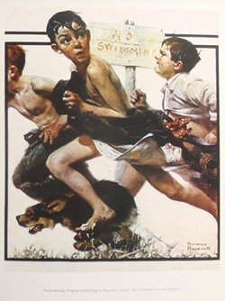 Print - No Swimming - Norman Rockwell