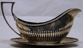 Antique Silver Gravy Boat