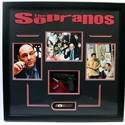 The Sopranos Photo Collage With Model Gun, Bullets, And