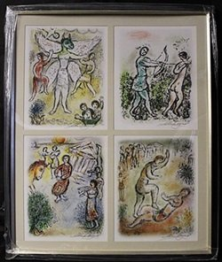 Lithographs 4-in-1 By Marc Chagall