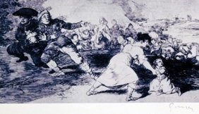 Hand Signed Lithograph By Francisco Goya