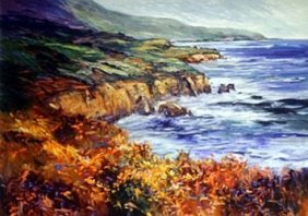Lithograph Ocean View By Michael Schofield