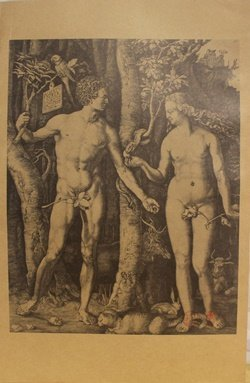 """Museum Lithograph """"adam And Eve The Fall Of Man """""""