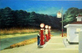 "Print ""gas 1940"" After Edward Hopper"
