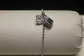 Fine T & Co. Dice Silver Bracelet