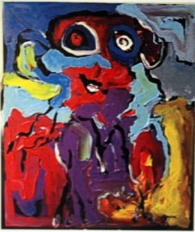Karel Appel Oil On Canvas - The Boy
