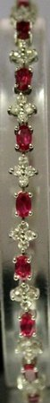 Fancy Sterling Silver Lab Rubies & White Sapphires