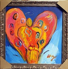 Angel Heart - Oil Painting On Canvas By Peter Max