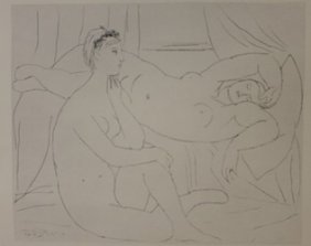 Two Nudes Resting Lithograph- Picasso