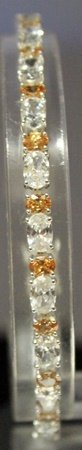 Beautiful Sterling Silver Lab White Topaz & Golden