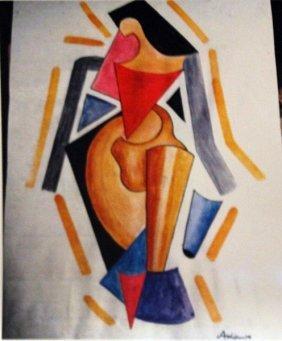 Alexander Archipenko Watercolor - Woman