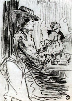 Woman In The Moulin Rouge - Toulous Lautrec