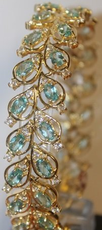 Beautiful Aquamarine And Sapphire Bracelet