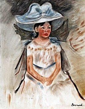 Portrait Of Mandy - Pastel - P. Bonnard