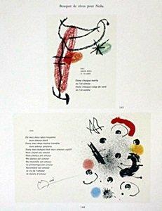"""Lithograph """"bouquet De Reves Pour Neila"""" By Joan Miro"""